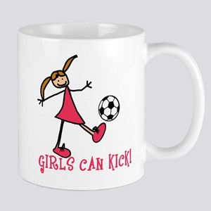 Girls Soccer Girls Can Kick Mug