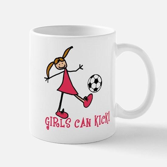 Girls Soccer Girls Can Kick Mug