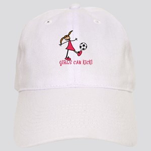 Girls Soccer Girls Can Kick Cap