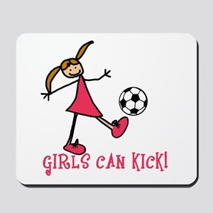 Girls Soccer Girls Can Kick Mousepad