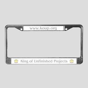 The KoUP License Plate Frame