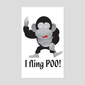 I fling POO! Rectangle Sticker