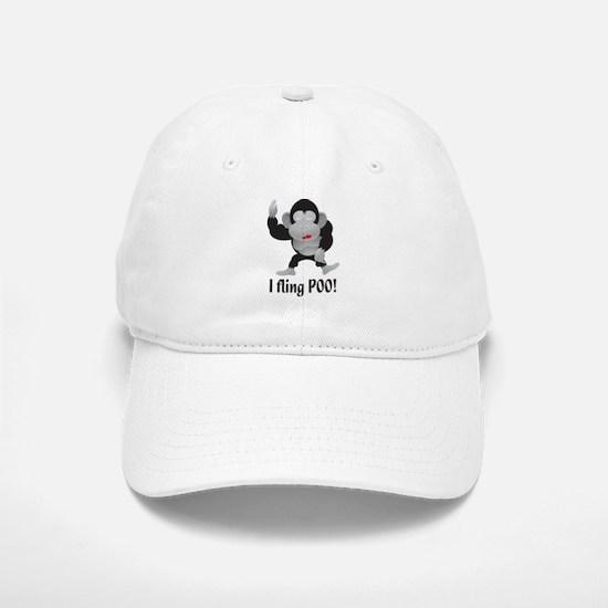 I fling POO! Baseball Baseball Cap