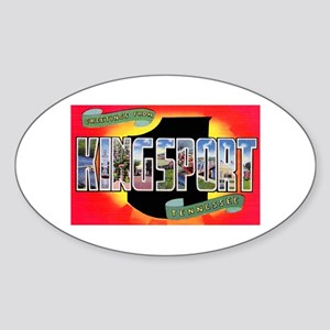 Kingsport Tennessee Greetings Oval Sticker