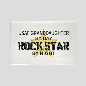 USAF Grnddghtr Rock Star by Night Rectangle Magnet