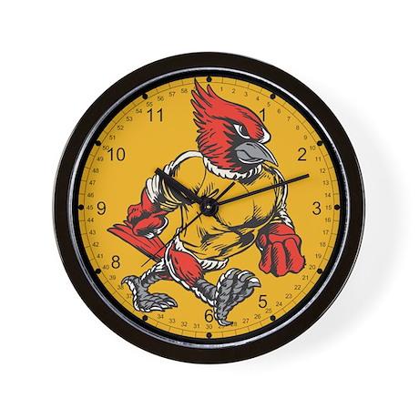 Angry Cardinal Wall Clock