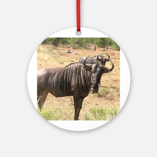 Wildebeests Ornament (Round)