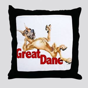 Great Dane Fawn LB Throw Pillow