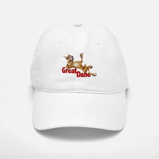 Great Dane Brindle LB Baseball Baseball Cap