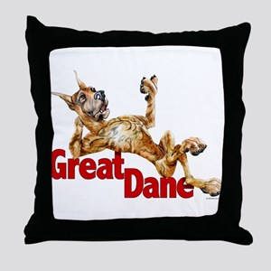Great Dane Brindle LB Throw Pillow