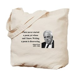 Robert Frost Quote 12 Tote Bag