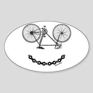 Mens Ladies Smiley Bicycle Chain Funny Bik Sticker