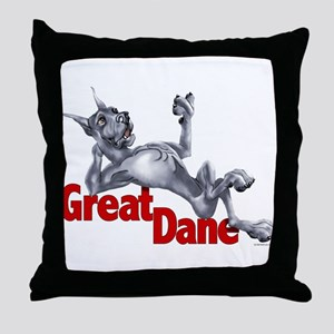 Great Dane Blue LB Throw Pillow