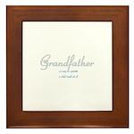 Grandfather Framed Tile