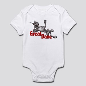Great Dane Black LB Infant Bodysuit