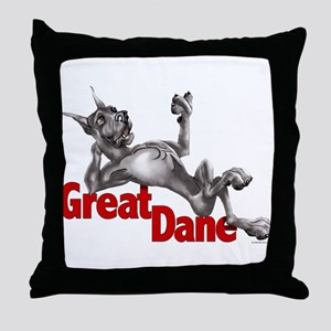 Great Dane Black LB Throw Pillow