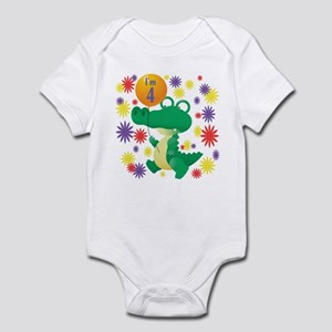 I'm 4 Birthday Alligator Infant Bodysuit