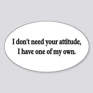 Attitude Oval Sticker