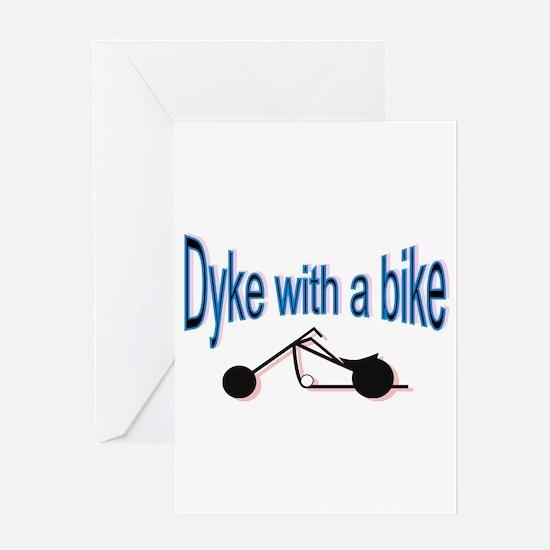 Dyke on a bike Greeting Card