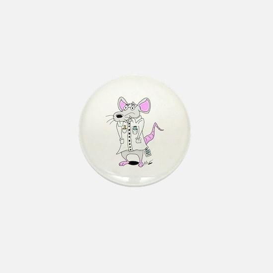 Scientist Lab Rat Mini Button
