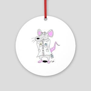 Scientist Lab Rat Ornament (Round)