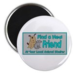 "Find a New Friend 2.25"" Magnet (100 pack)"