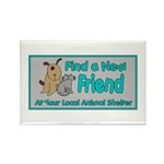 Find a New Friend Rectangle Magnet (100 pack)