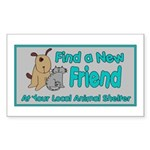 Find a New Friend Rectangle Sticker 10 pk)
