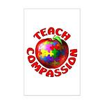 Teach Compassion Mini Poster Print