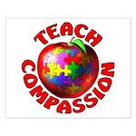 Teach Compassion Small Poster