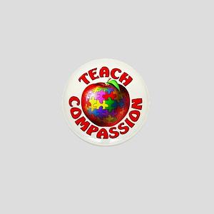 Teach Compassion Mini Button