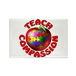 Teach Compassion Rectangle Magnet (100 pack)