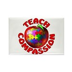 Teach Compassion Rectangle Magnet (10 pack)