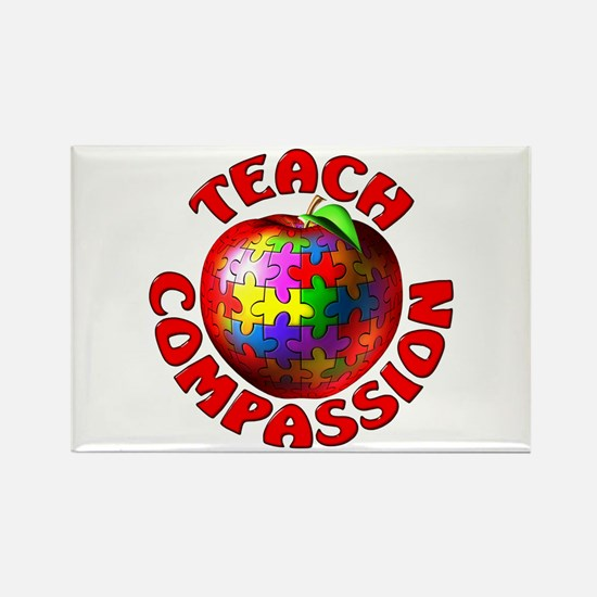 Teach Compassion Rectangle Magnet