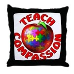 Teach Compassion Throw Pillow