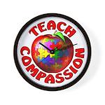 Teach Compassion Wall Clock