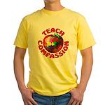 Teach Compassion Yellow T-Shirt