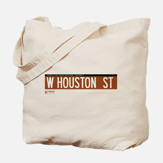 West Houston Street in NY Tote Bag