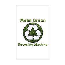 Recycling Machine Rectangle Sticker