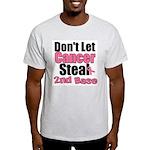 Don't Let Cancer Steal 2nd Base Light T-Shirt