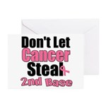 Don't Let Cancer Steal 2nd Base Greeting Cards (Pk