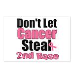 Don't Let Cancer Steal 2nd Base Postcards (Package