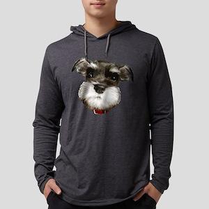 mini_schnauzer_face001 Long Sleeve T-Shirt