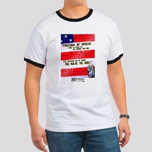 Fight Censorship (Flynt Quote) Ringer T