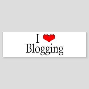 I Heart Blogging Bumper Sticker
