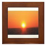 Florida Sunset Framed Tile
