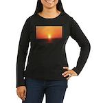 Florida Sunset Women's Long Sleeve Dark T-Shirt