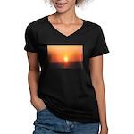 Florida Sunset Women's V-Neck Dark T-Shirt