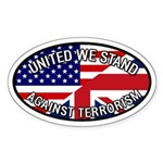UK GB USA United We Stand Oval Sticker