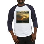 Spring Hill Fire in the Sky Baseball Jersey